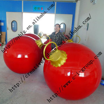 Large outdoor fiberglass christmas balls buy large for Outdoor christmas balls