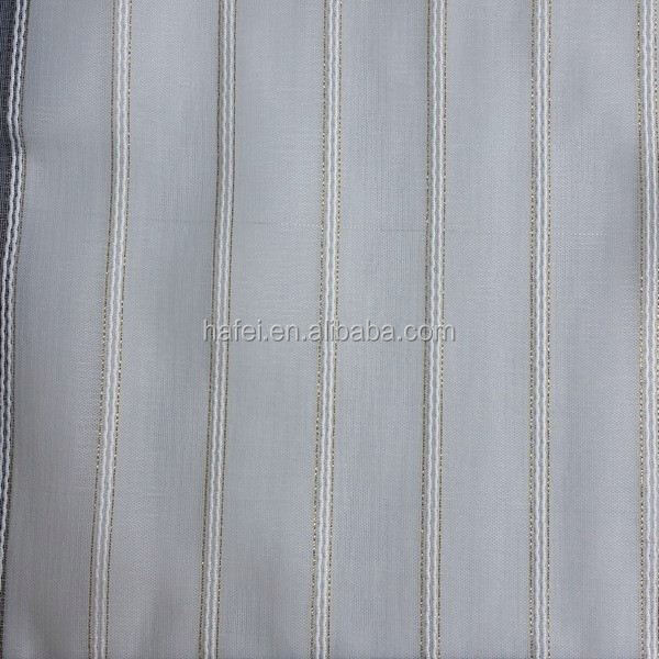 Hotel project sheer fabric 100% polyester striped fabric