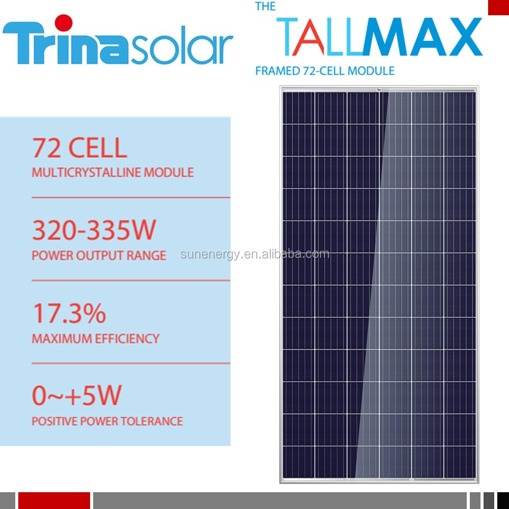 Q1 grade multi 320w trina solar pv panels ideal for large scale installations TSM-320PD14