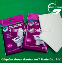 Biodegradable 1/2 Fold Toilet Seat Paper Cover for travelling uese