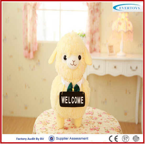 lovely welcome sheep plush toy