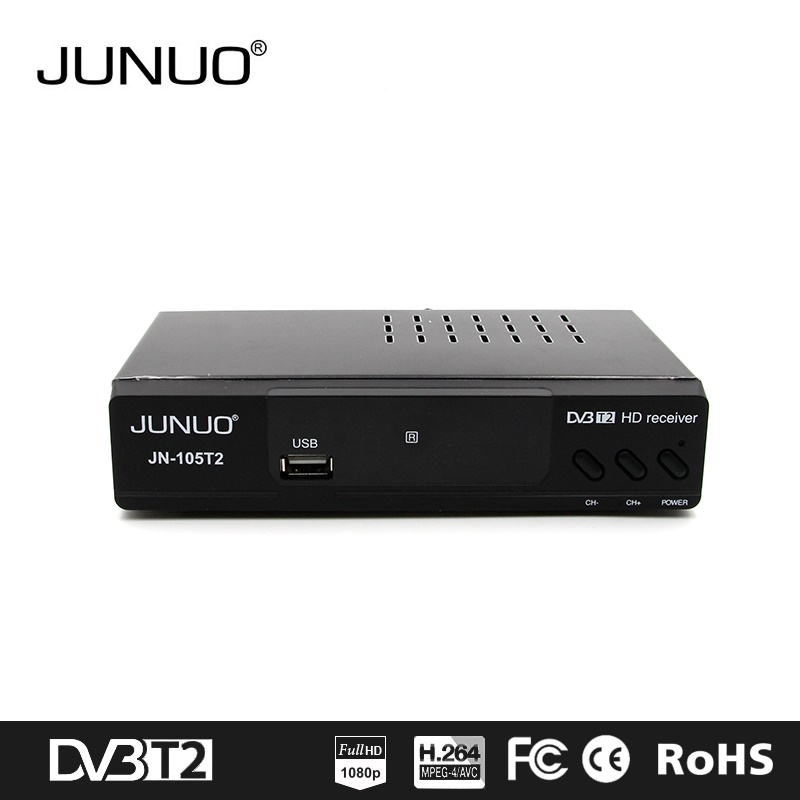 JUNUO manufacture OEM good quality strong decoder tv tuner full hd mstar 7t01 France dvb-t2 digital tv receiver
