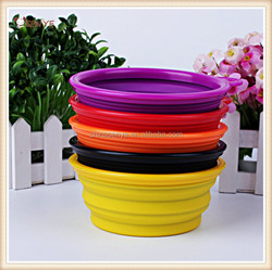 Colorful Pet Dog Portable Bowl Feeding Water Feeder Travel Silicone Collapsible Bowl