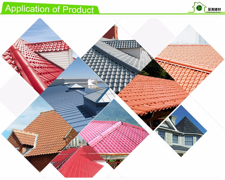 sound and heat insulation coloful Spanish hollow corrugated plastic roofing sheet