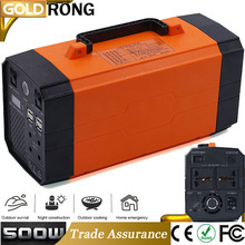 Portable 500W Mini Solar UPS System Uninterruptible Power Supply Solar Home Light System For Home Use 1000W Peak Lithium Battery