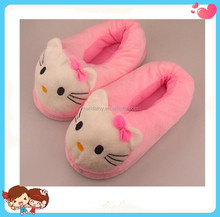 factory sale cheap Hello Kitty pattern indoor soft stuffed warm custom shoes