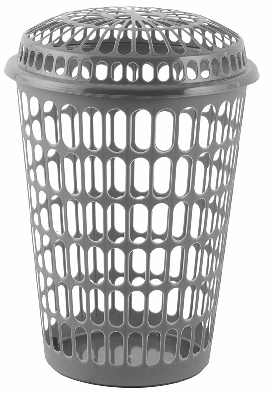 Light Plastic Basket Laundry With Lid
