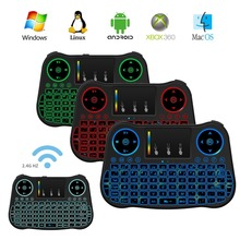Factory price, 2.4g mini fly air mouse keyboard MT08 wireless mouse keyboard for android tv box