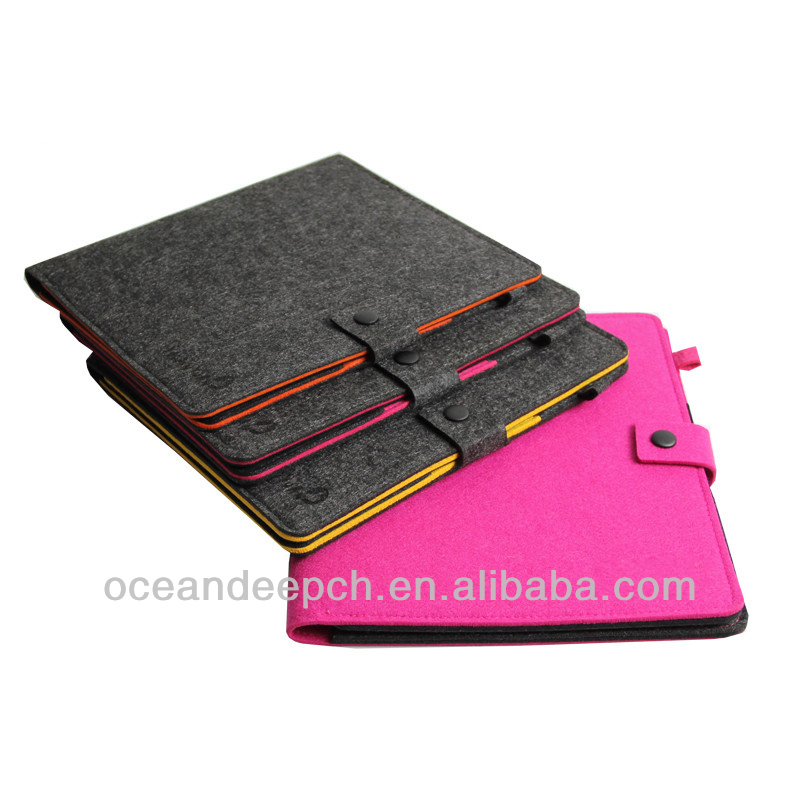 Felt leather book case for ipad air new product 2014