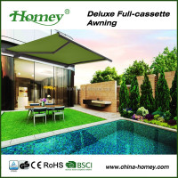 Aluminum Full Cassette Retractable Balcony Awning Canopy Tent