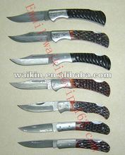 China damascus steel pocket knives