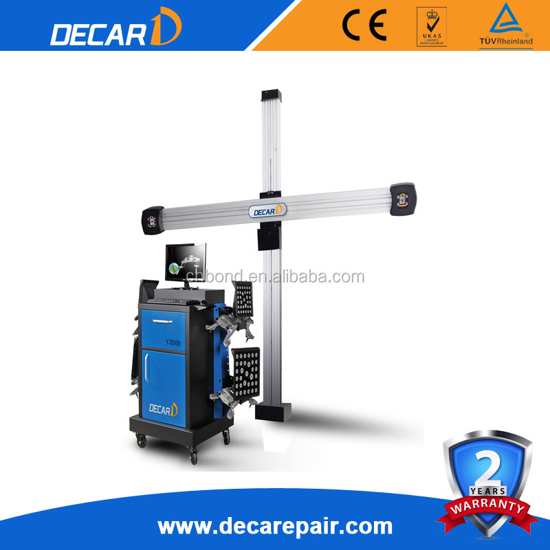 CE certificate DECAR 3D wheel aligner price for sale