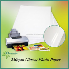 High Glossy 230gsm Inkjet photo paper with transparent bag