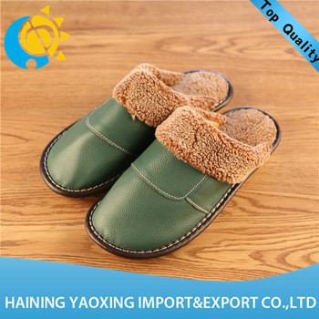 Popular genuine leather girls indoor slippers no MOQ wholesale