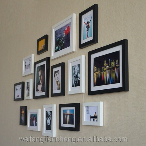 Picture Photo Frames Wall/TV Wall with Multi Photo Frames