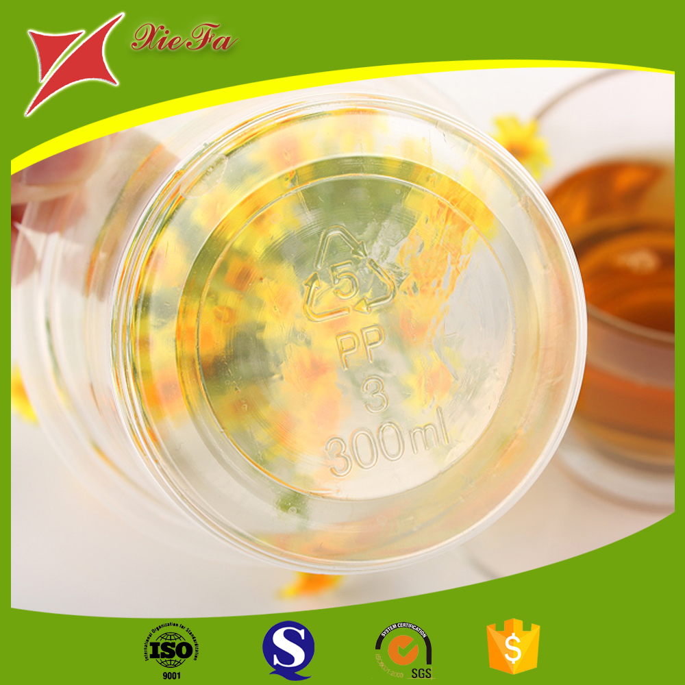 Disposable plastic cup with lids bubble tea drink ice cream yogurt water salad coffee cups