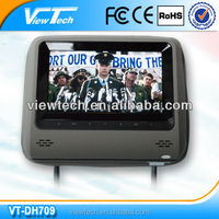 2016 full hd 7 inch Smallest pillow slot Headrest DVD player