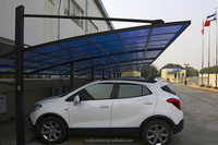 Huili stylish garage design aluminum carports with polycarbonate roof panels