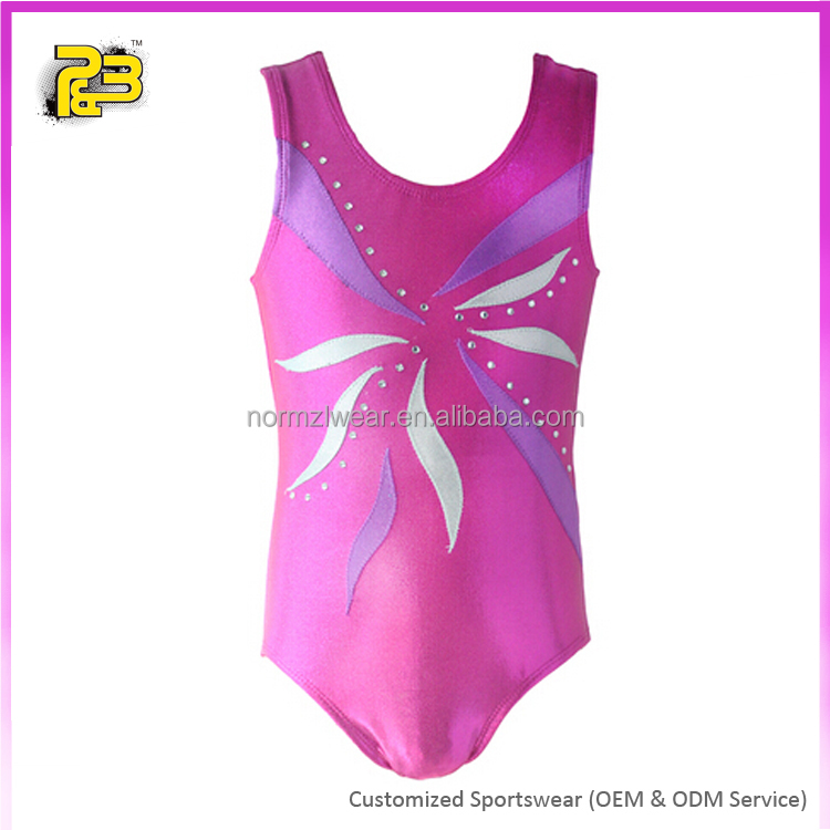 Custom made rhinestone gymnastic leotards for adults & children
