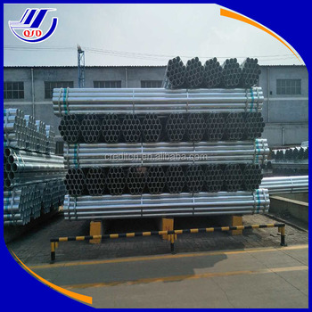 O.D.114mm galvanized ROUND steel pipes