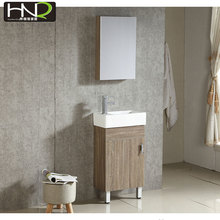 Small thin bathroom vanity simple cabinet with mirror modern style