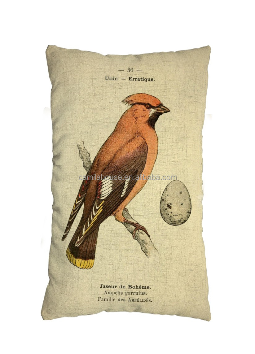 Hand-drawn Indoor Decor Rustic Pillow Case Animal