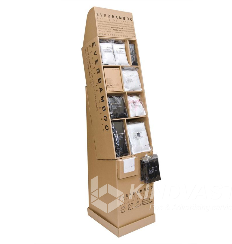 High Quality T-shirt Display Stand T-shirt Cardboard Counter Hanging Display
