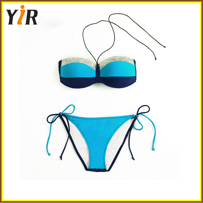 (OEM Factory)Women's wholesale custom swim wear, high quality xxx china girl bikini swim wear photo