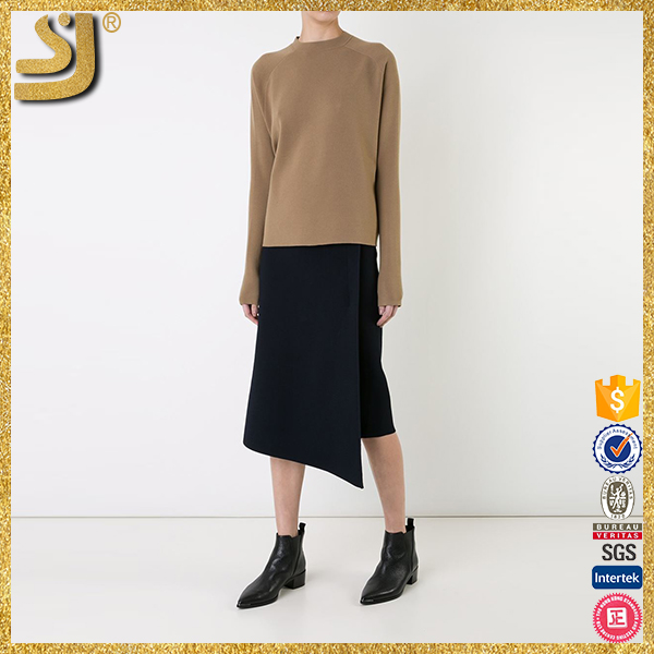 SHANGYI womens 100% wool sweaters, wool pullover military sweater