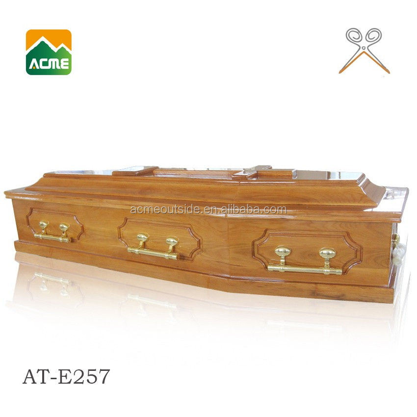AT-E257 wholesale best price solid wooden coffin box