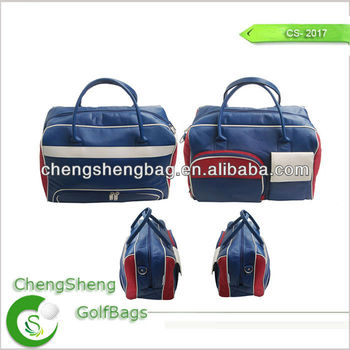 Leather golf clothes bag