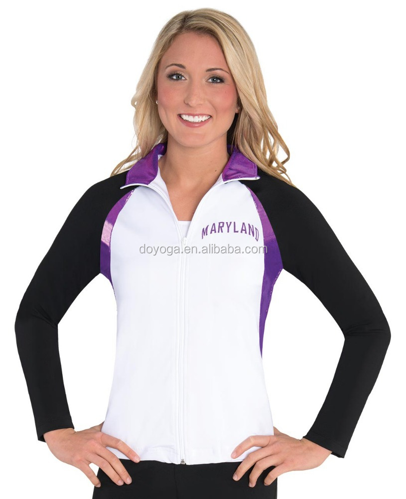 Sublimated printing customized cheerleading outfits uniforms jacket