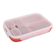 Collapsible Meal Prep Container BAP Free 3 Compartment Food Container
