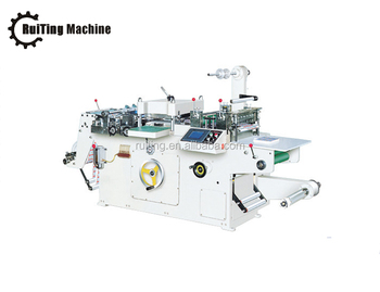 RTMQ-320 new model adhesive sticker flat bed label die cutting machine
