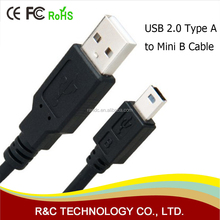 High Speed USB 2.0 A-Male to Mini-B Cable, Wholesale Mini / Micro USB Cable