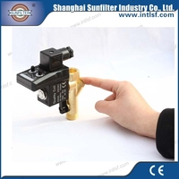 Air compressor electronic auto drain blow down valve
