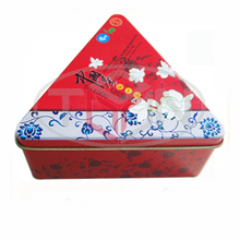 Triangle Chinese tea tin box