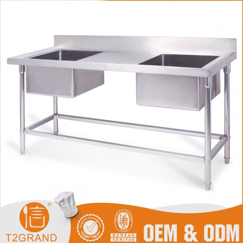 Hottest Cheaper Oem Service 2 Bowl Stainless Steel Sink With Drainer