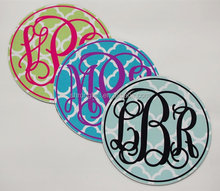 Online Wholesale Full Color Printing Removable Round Monogram Car Magnet