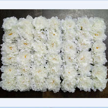 Shuyi wholesale cheap silk artificial flower wall peony flower wall for decoration