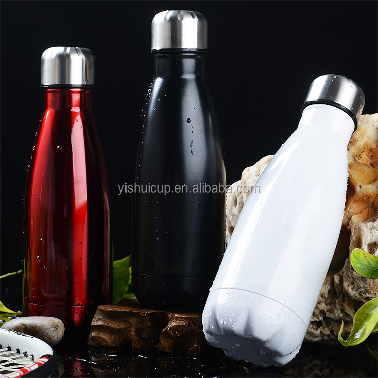 2017 new cap cola shape stainless steel sport hydro flask double wall vacuum insulate water bottle with customized logo