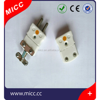 MICC 220V K type ceramic plug and socket with clamp