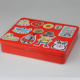 Book style custom printed tin box packing rectangular tin can standard tin can sizes