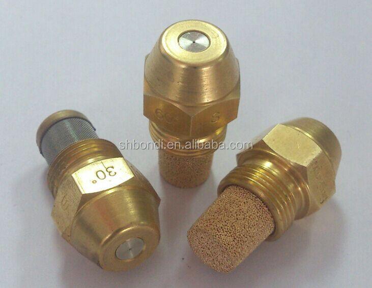 Brass fuel burn nozzle fine gas mist siphon type