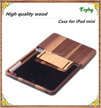 High quality 2 parts hybrid wooden case for ipad mini, for wood ipad case, for ipad wood case