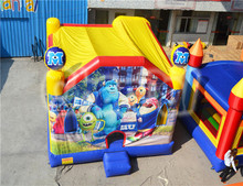 Commercial attractive inflatable Monster University 5 in 1 jumping bouncer combo , Inflatable Monster University bounce house