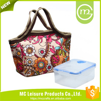 Hot Sale Picnic Portable Box Thermal nylon fabric Insulated Cooler Bag