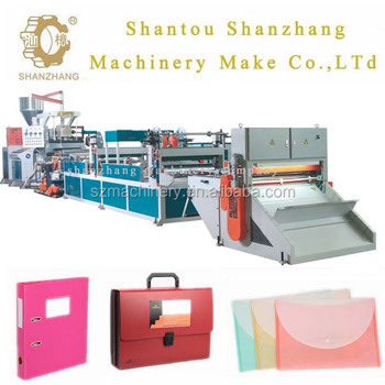 plastic folder file production line pp pe extruder