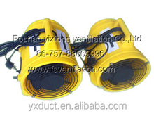 yellow plastics portable ventilator/air blower ,exhaust fan