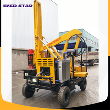 Hot sale highway guardrail post ramming machine